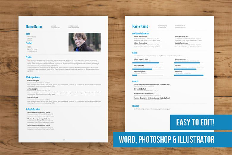 2 Page CV Template