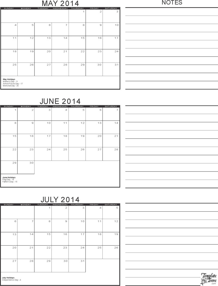 3 Month Calendar Template | Download Free & Premium ...