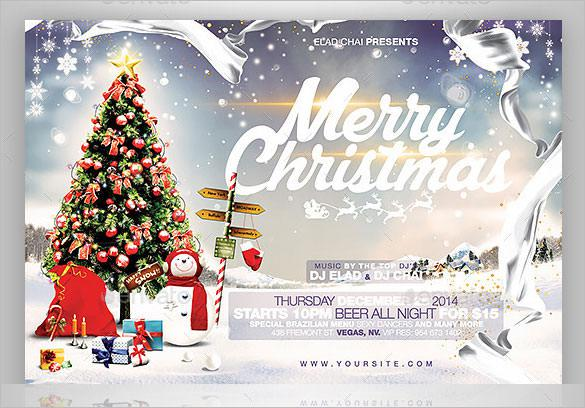 2015 Christmas Flyer Card Template Photoshop PSD