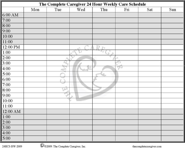 24 Hours Schedule Template | Download Free & Premium Templates ...