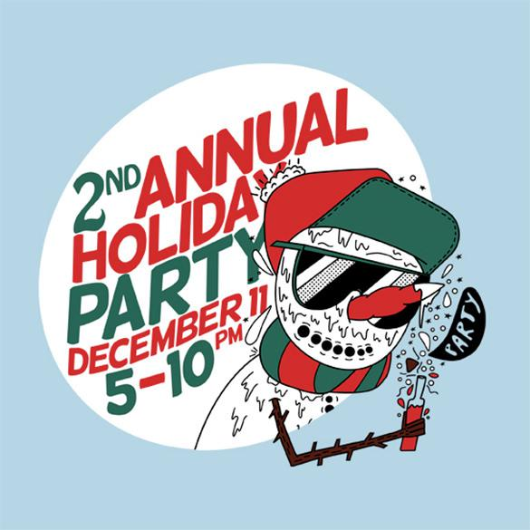 2nd AnnualDay Event Holiday Party Flyer