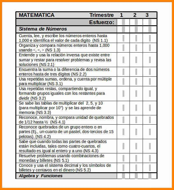 2nd Grade Student Report Card Template Word Format Editable