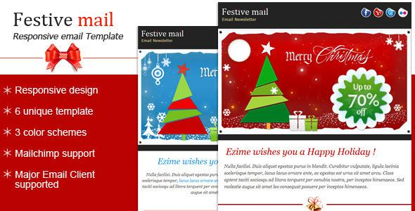 3 Exclusive Christmas And New Year Newsletter Psd Download