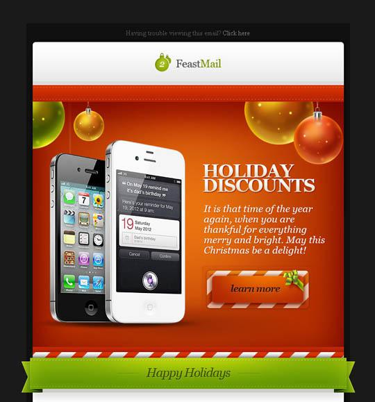 3 Feastmail Christmas Email Template Layered Psd