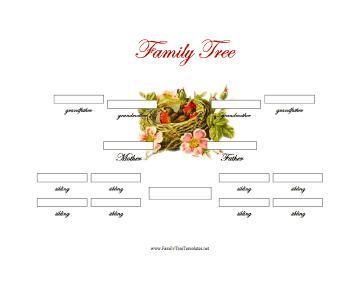 3 Generations Family Genogram Template Word Download