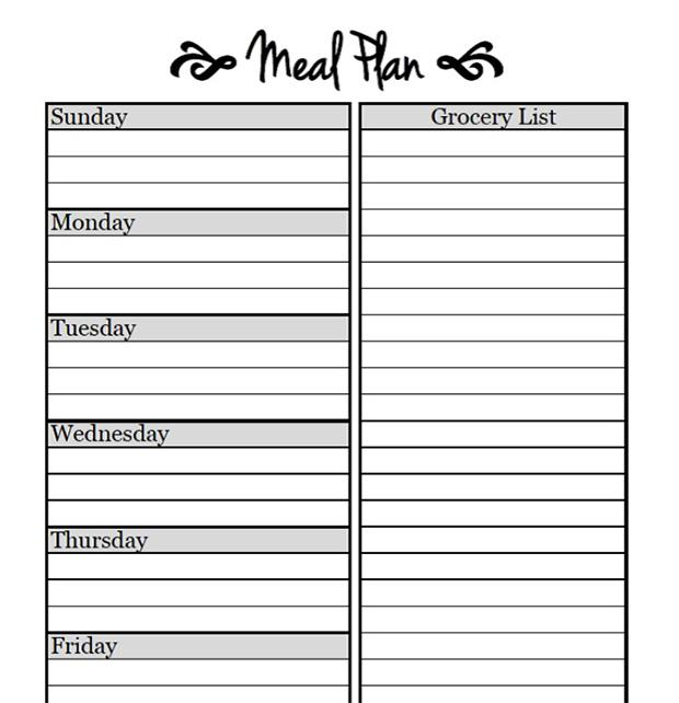 30 Day Meal Plan for Weigh Loss PDF Template