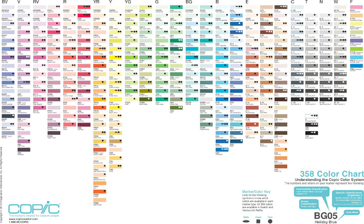 358 Color Chart
