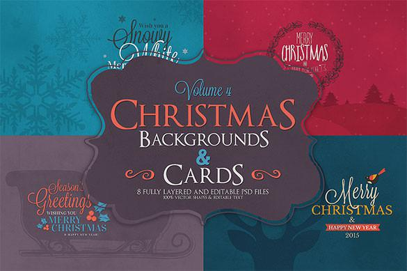 36 Christmas Cards Bundle PSD Download