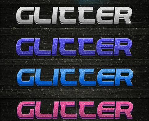 3D Glitter Styles Font