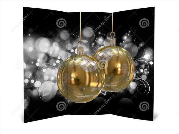 3D Illustration of Christmas Brochure Templaet Download