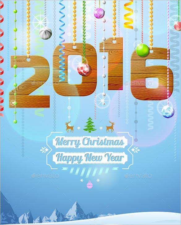 4 New Year Greetings Card Template EPS