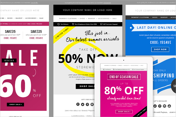 4 Sales E-mail Newsletter Templates