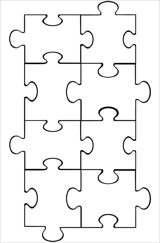 8 Piece Puzzle Template