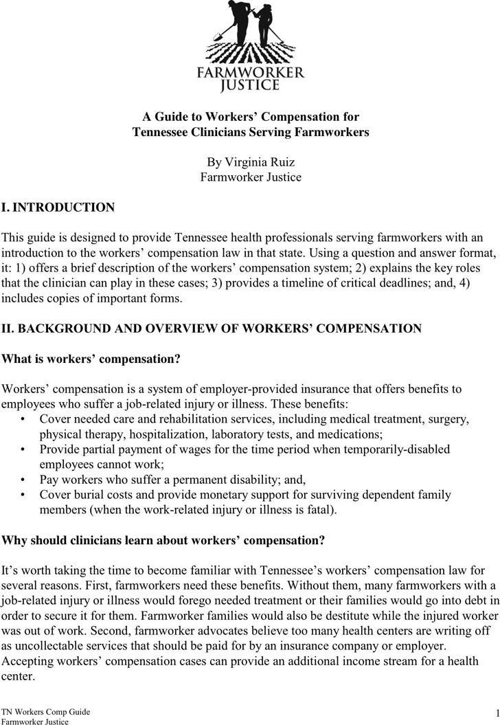 A Guide To Workers' Compensation For Tennessee Clinicians Serving Farmworkers