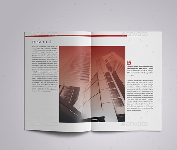 A4 Corporate Architecture Brochure