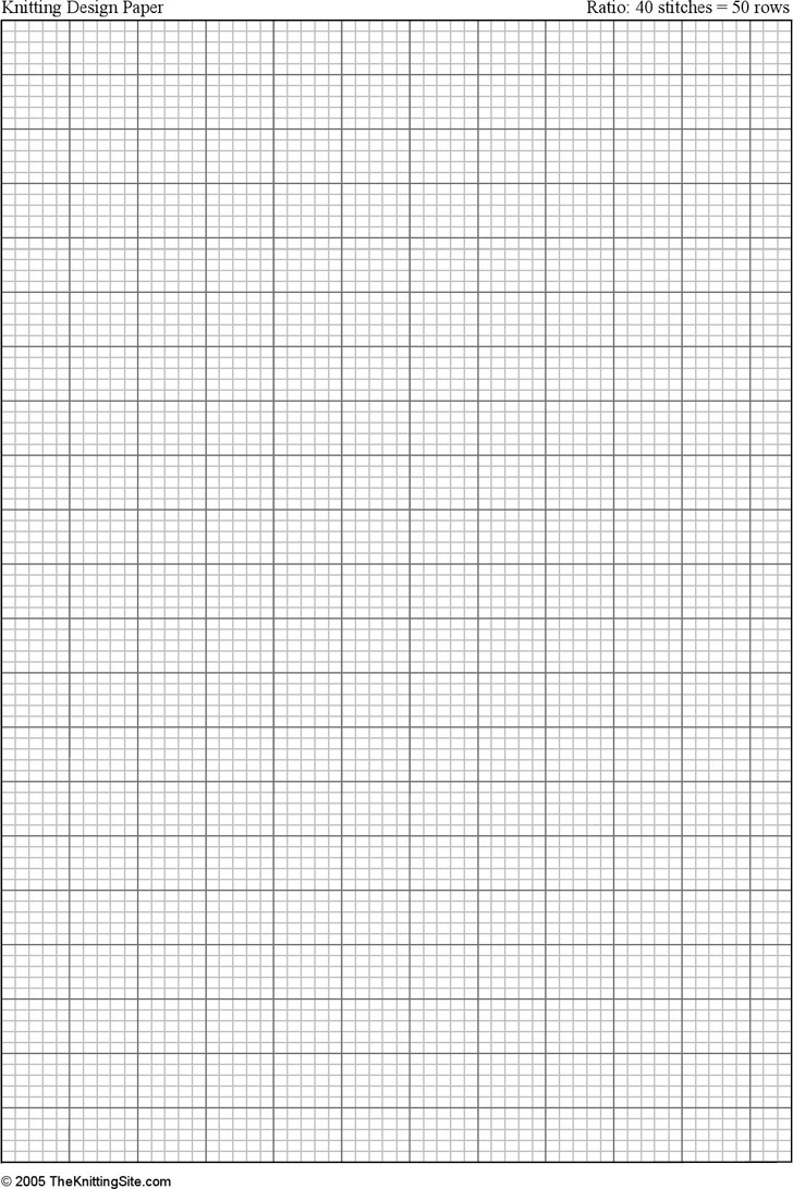 how to use knitting graph paper