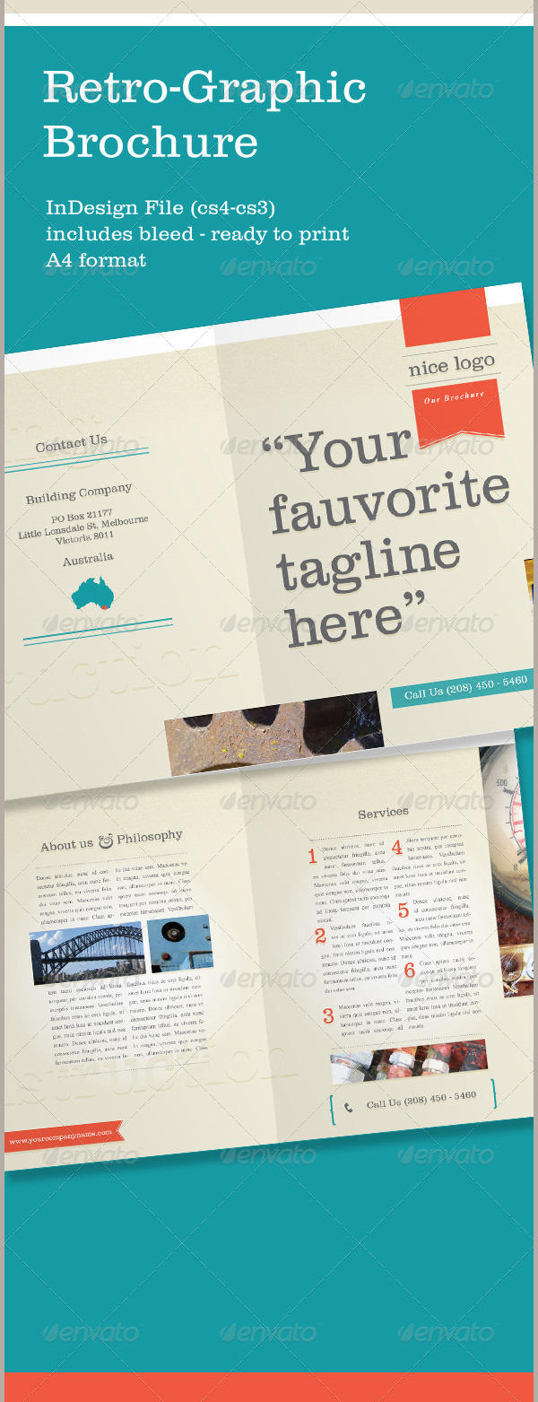 best retro brochure templates premium templates a4 retro brochure