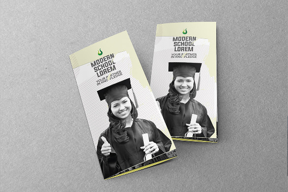 A4 size Education Tri-Fold Brochure