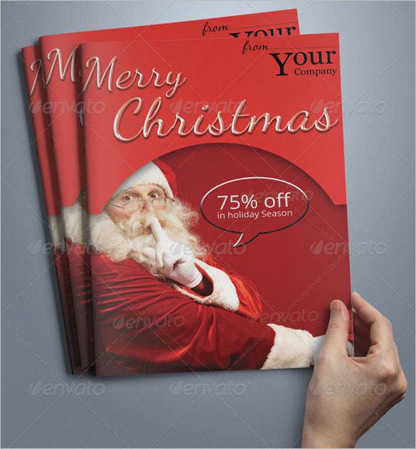 A5 Christmas Brochure Template Photoshop PSD