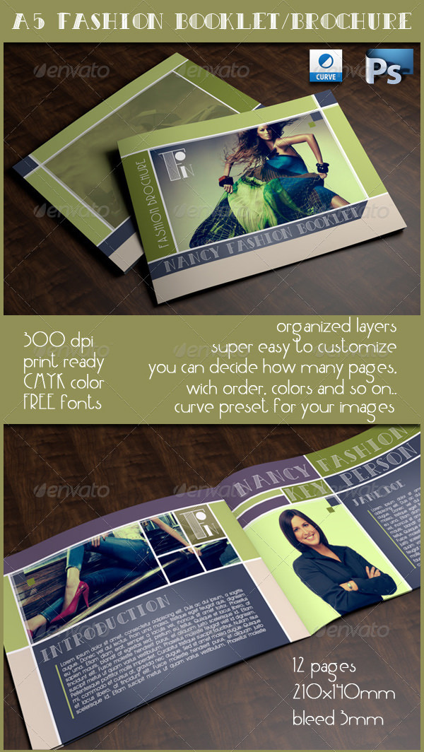 A5 Fashion Booklet / Brochure