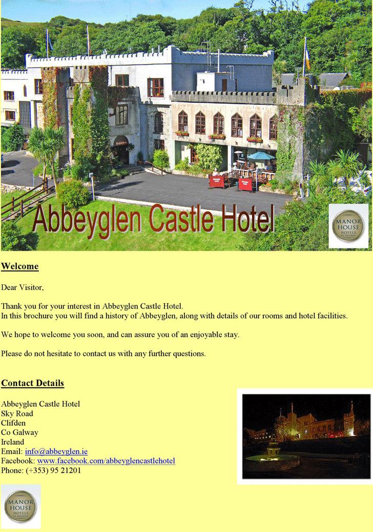 Abbeyglen Castle Hotel Brochure