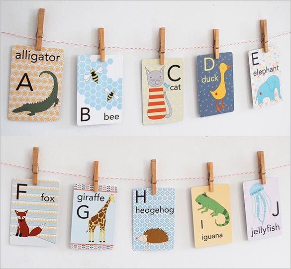 ABC Alphabet Flash Card Set
