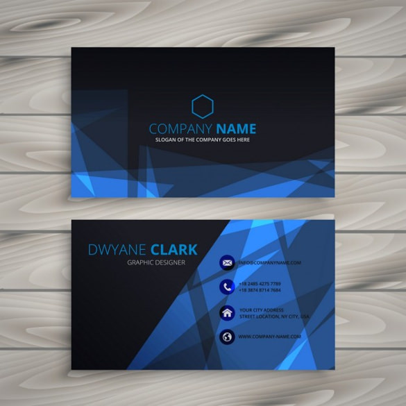 Abstract Dark Business Card Free Vector Download