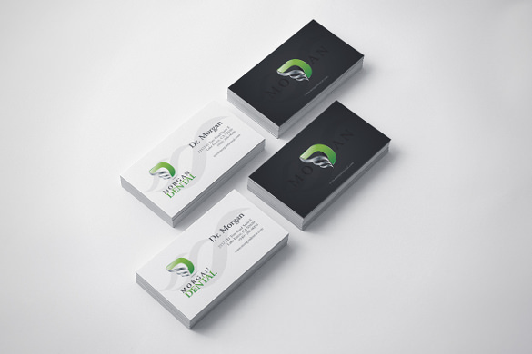 Abstract Dental Business Card Template