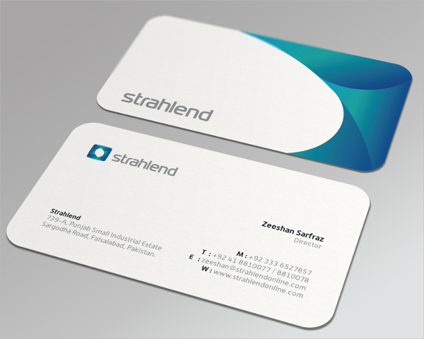 Abstract Medical Business Card