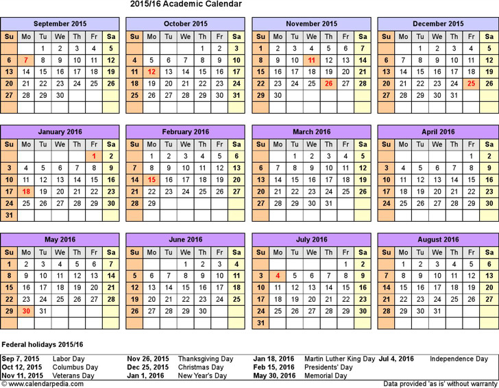 Academic Calendar Template  Download Free  Premium Templates