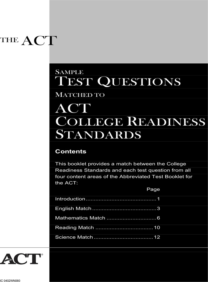 ACT Sample Test Template 1