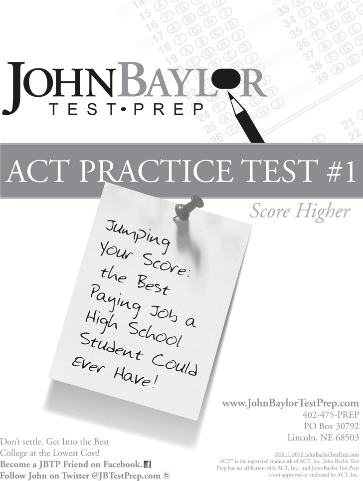 ACT Sample Test Template 2