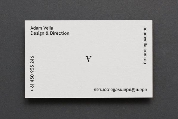 Adam Vella Business Card Design & Direction