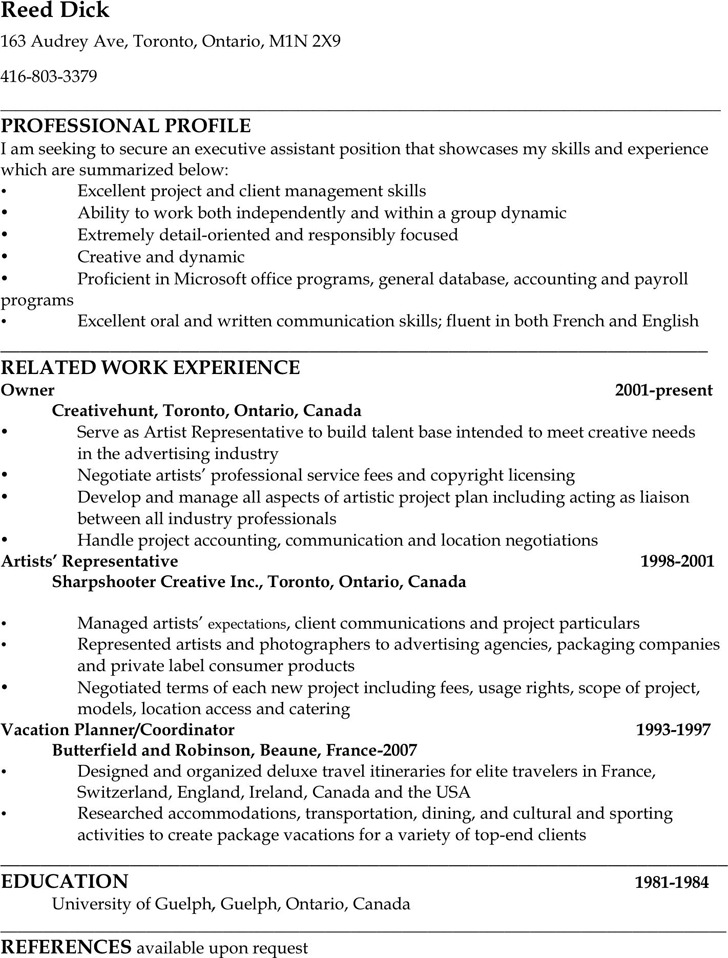 Administrative Assistant Resume Sample 1