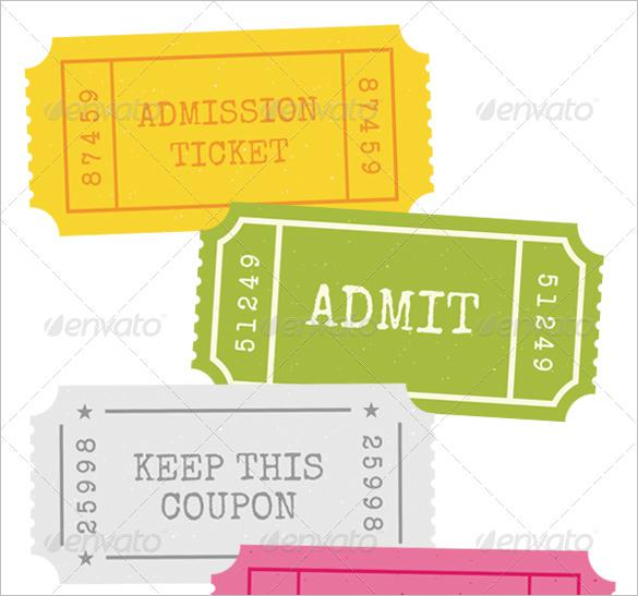 Admission Ticket PSD Stub Template