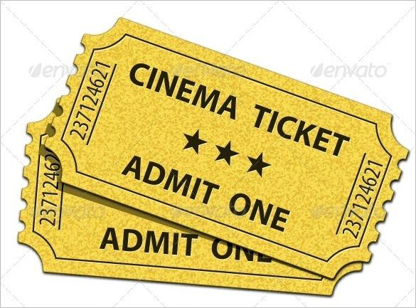 Admit One Cinema Ticket Template