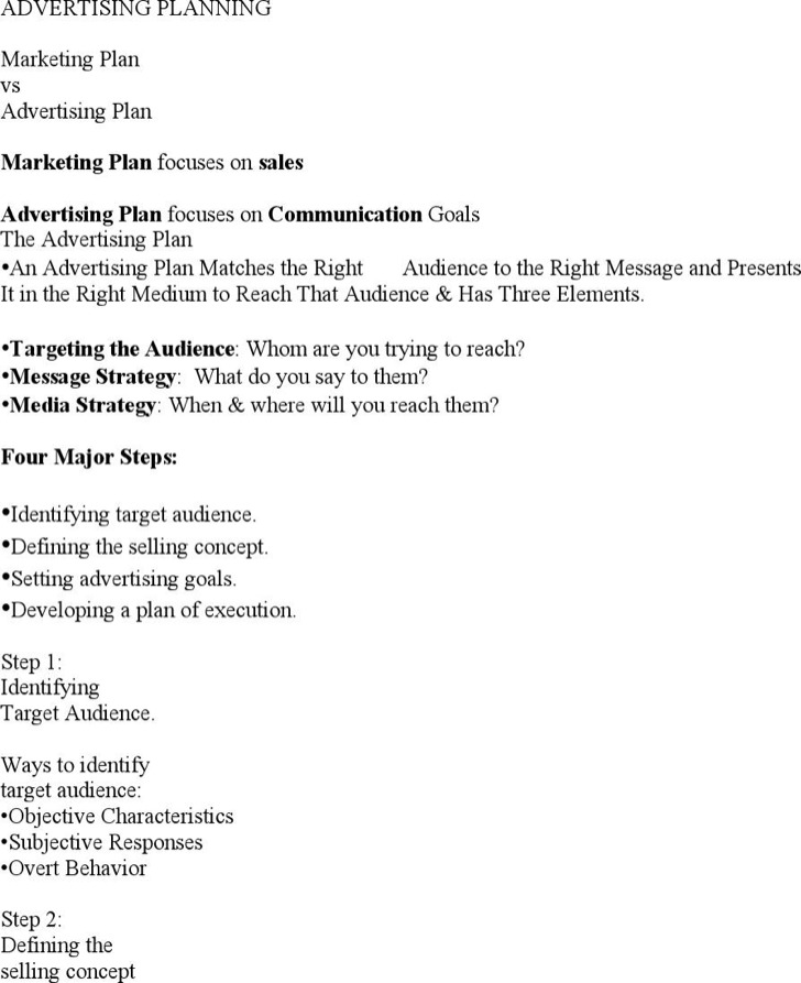 Advertising Plan Templates | Download Free & Premium Templates ...