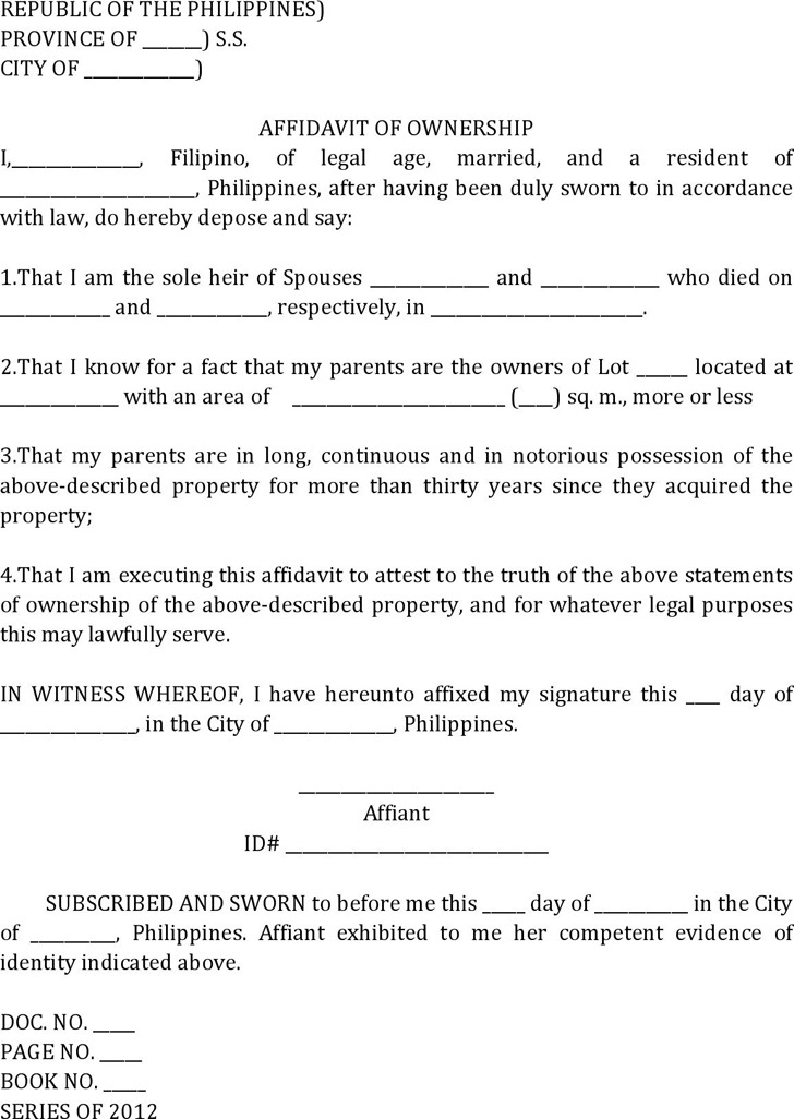 Affidavit Of Fact Template. 2 The Facts Of This Case Christopher
