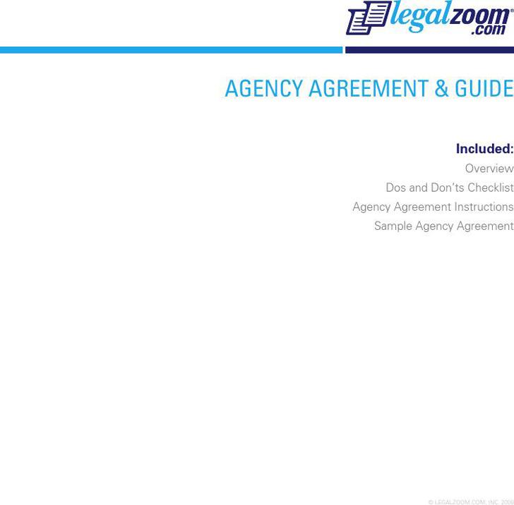 Agency Agreement Sample 2