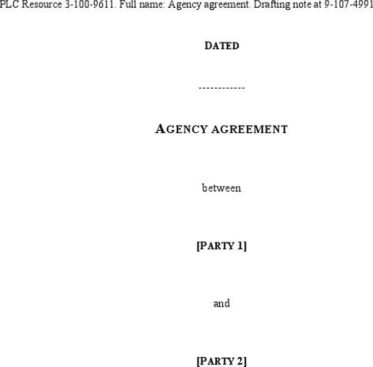 Agency Agreement Sample  Download Free  Premium Templates Forms
