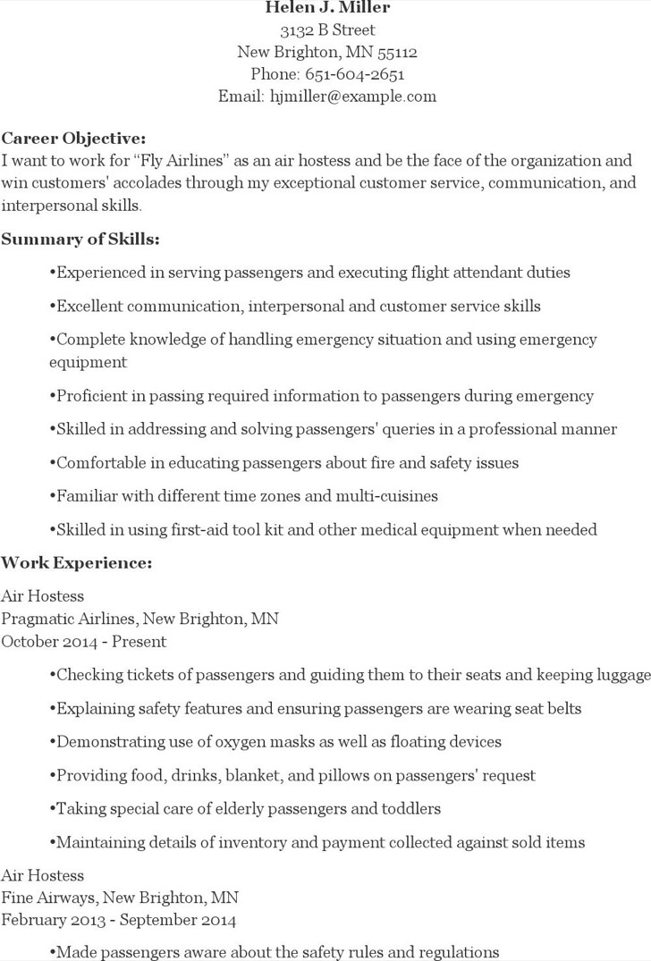 Serving Resume Examples  Resume Examples And Free Resume Builder