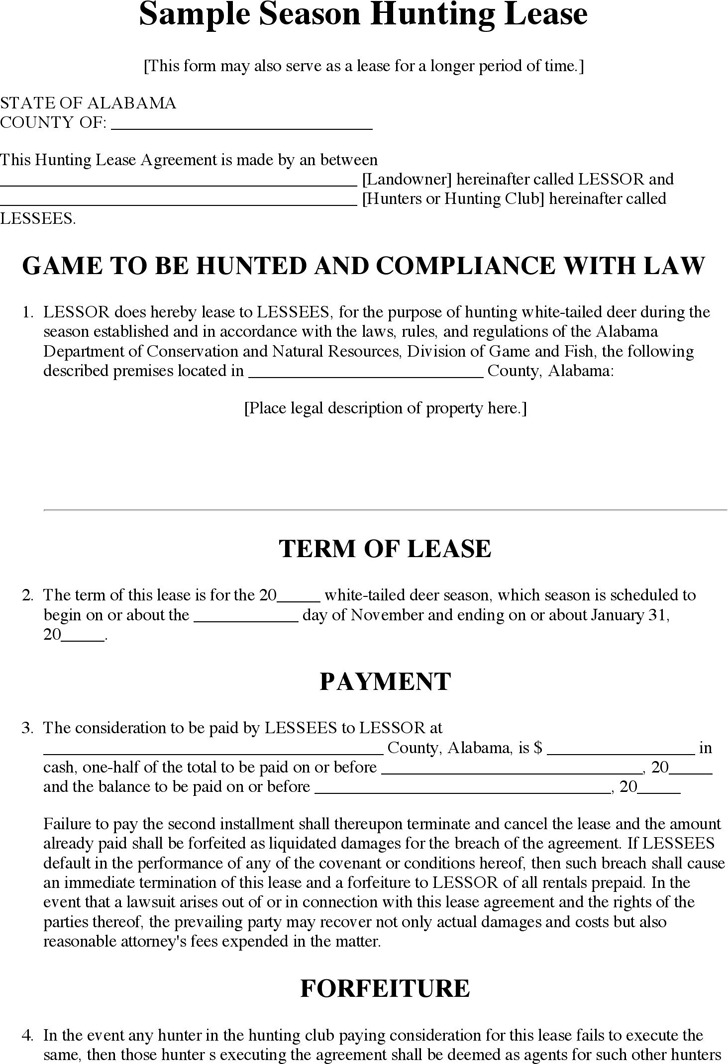 Alabama Rent And Lease Template  Download Free  Premium Templates