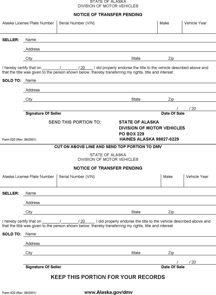 Alaska Bill Of Sale Form  Download Free  Premium Templates