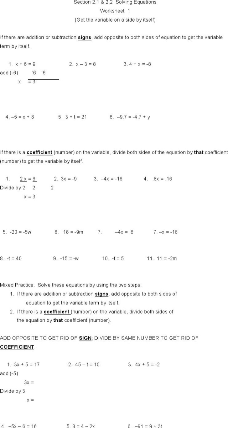 All Grade Worksheets Algebra Worksheet All Grade Worksheets – Algebra Worksheet