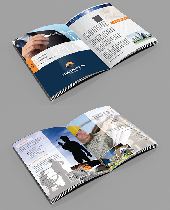Amazing Design Brochure Template for Construction Company