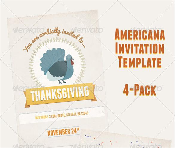 American Holiday Party Invitation Flyer - $9