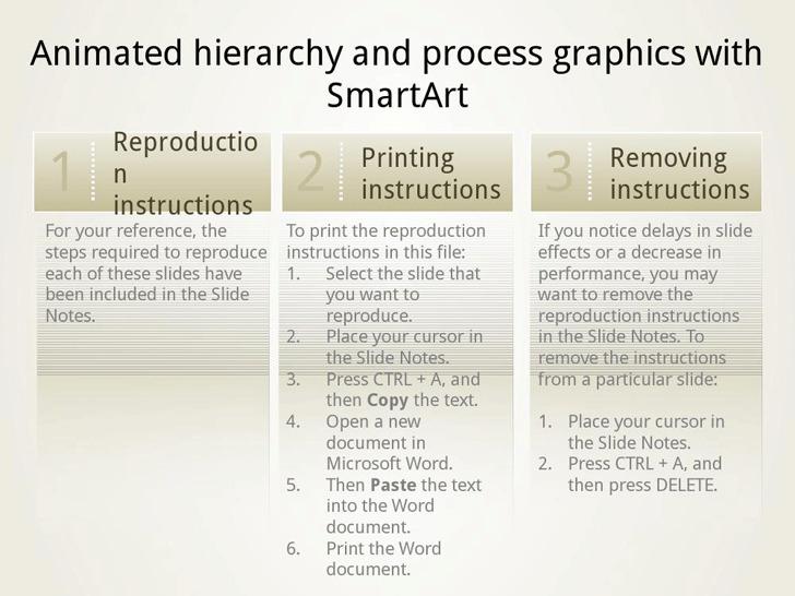 Animated SmartArt Graphics Presentation Slides