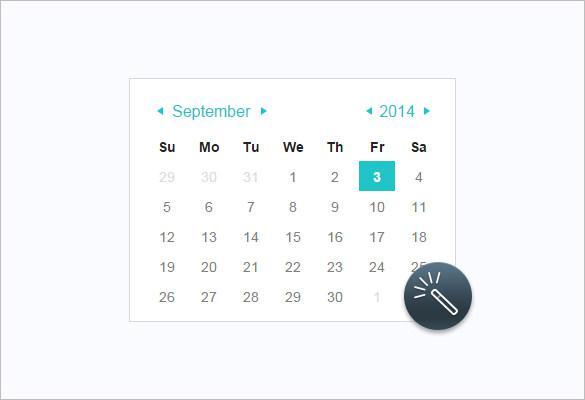 Animation HTML Calendar