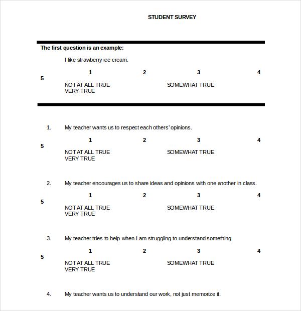 word document survey template