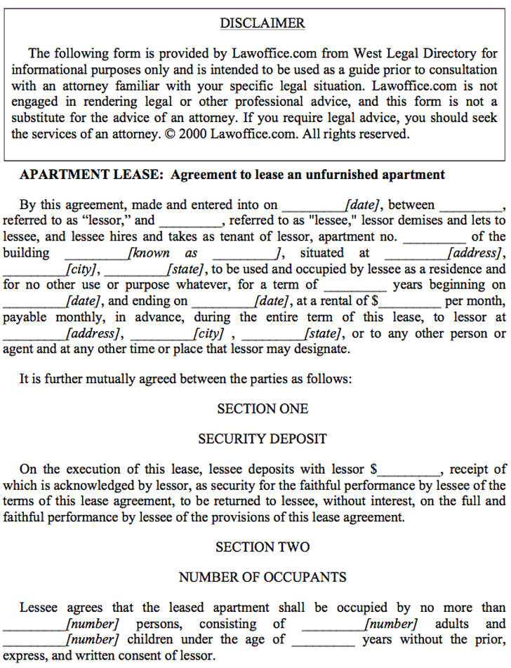 Apartment Lease Agreement  Download Free  Premium Templates